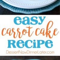 This easy carrot cake recipe is moist, perfectly-spiced, and topped with the BEST cream cheese frosting. Customize it with your favorite fillers or enjoy it simply as is.