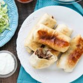 Instant Pot Chimichangas are a favorite family dinner withtender shredded beef, seasoned to perfection, and wrapped in tortillas to fry or bake. (+ Recipe Video!)