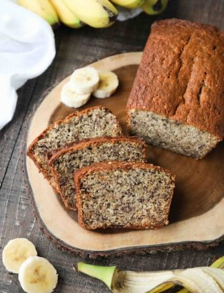 Use up those ripe bananas in this easy Banana Bread Recipe. The most delicious, moist, classic banana bread recipe. No mixer needed for this one-bowl quick bread.