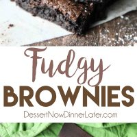Homemade fudgy brownies are cheap and easy to make in one bowl like you would with a boxed mix from the store! Super moist and fudgy, these brownies will get eaten fast!