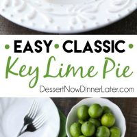 This classic Key Lime Pie recipe is smooth and creamy, tart yet sweet, and super easy to make!Top it with freshly sweetened whipped cream for the perfect bite!