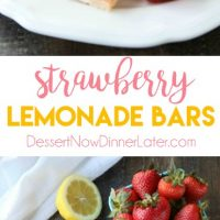 Strawberry Lemonade Bars combine fresh, ripe strawberries with classic lemon bars for a delicious sweet and tangy summer dessert.