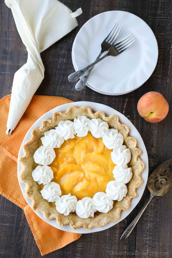 Fresh Peach Pie - Dessert Now, Dinner Later!