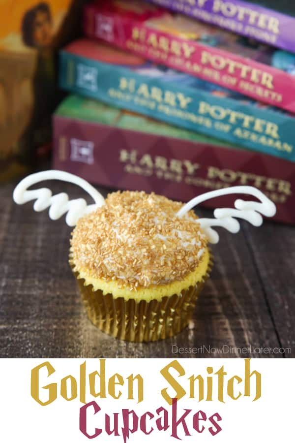 Harry Potter Golden Snitch Cupcakes Dessert Now Dinner Later