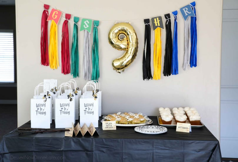 Harry Potter Birthday Party - Table Decor