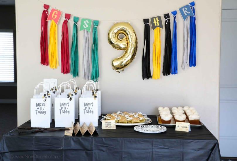 Harry Potter Birthday Party - Table Decor