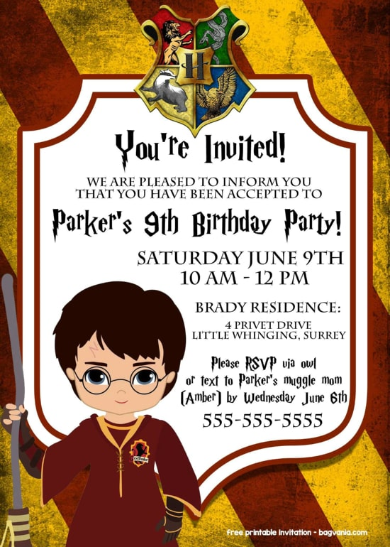 Harry Potter Party - Invitation