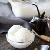 Easy vanilla ice cream made with or without cream (just milk). No eggs and no cooking required!