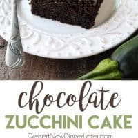 Chocolate Zucchini Cake is rich and moist, and topped with a decadent chocolate frosting. You'd never know there was zucchini hidden in this easy and delicious chocolate cake!