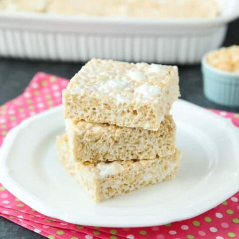 The Best Rice Krispie Treats Recipe is soft, gooey, crispy, and chewy -- and this is it! Better than the original, you won't be able to just eat one! Enjoy this classic (done right) with your family and friends.