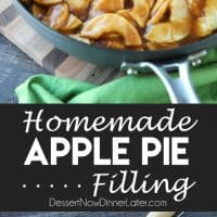 Homemade Apple Pie Filling is easy, delicious, and freezes well! Use it for apple pie, apple crisp, or any dessert that uses canned apple pie filling. Stays freezer fresh up to 12 months!