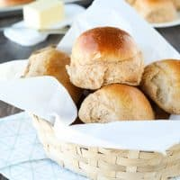 These 100% Whole Wheat Dinner Rolls are so soft, light, fluffy and moist, with a hint of honey. Make them for holidays (Thanksgiving, Christmas, Easter, etc.) or any day!