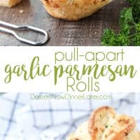 These easy Garlic Parmesan Rolls have layers of flavor to pull apart and savor in every bite. The perfect dinner rolls for holidays or any meal. You'll love these shortcut butterflake rolls.