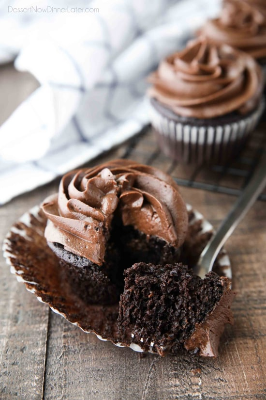 This basic homemade Chocolate Cupcakes Recipe creates the best rich, moist, tender cupcakes and is easy to make. A classic done right!