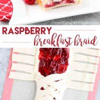 Raspberry Breakfast Braid - a quick raspberry sauce and cream cheese filling are stuffed inside this easy braided bread that's drizzled with a sweet and simple icing. A special breakfast or dessert for weekends or holidays with step-by-step pictures to help you make it.
