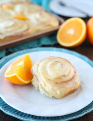 Orange Rolls are a delicious sweet roll made with a soft and fluffy potato dough filled with a zest-infused sugar and topped with a fresh orange glaze. Perfect for breakfast, weekend brunch, or holidays -- like Easter.