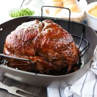 Brown Sugar Mustard Glazed Ham