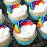 Funfetti Rainbow Cupcakes