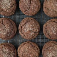 Chocolate Snickerdoodles - soft and chewy chocolate cookies are coated in cinnamon-sugar and baked to perfection.