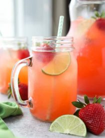 Strawberry Agua Fresca (agua fresca de fresa) is an easy Mexican drink of refreshing fruit water that is lightly sweetened and uses fresh summer strawberries.