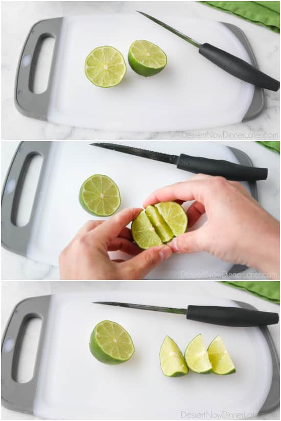 How to cut the perfect lime wedges.