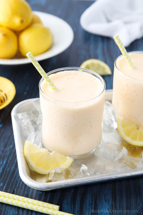 This copycat Chick-Fil-A frosted lemonade recipe is creamy and sweet with the wonderful tang of lemon. A delicious frozen drink that turns lemonade into a fruit milkshake. Perfect for summer!
