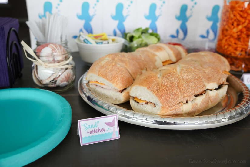 "Mermaid Party Food - ""Sand""-wiches"