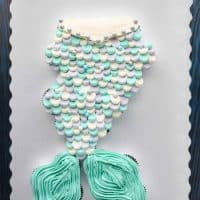 Mermaid Tail Cupcake Cake