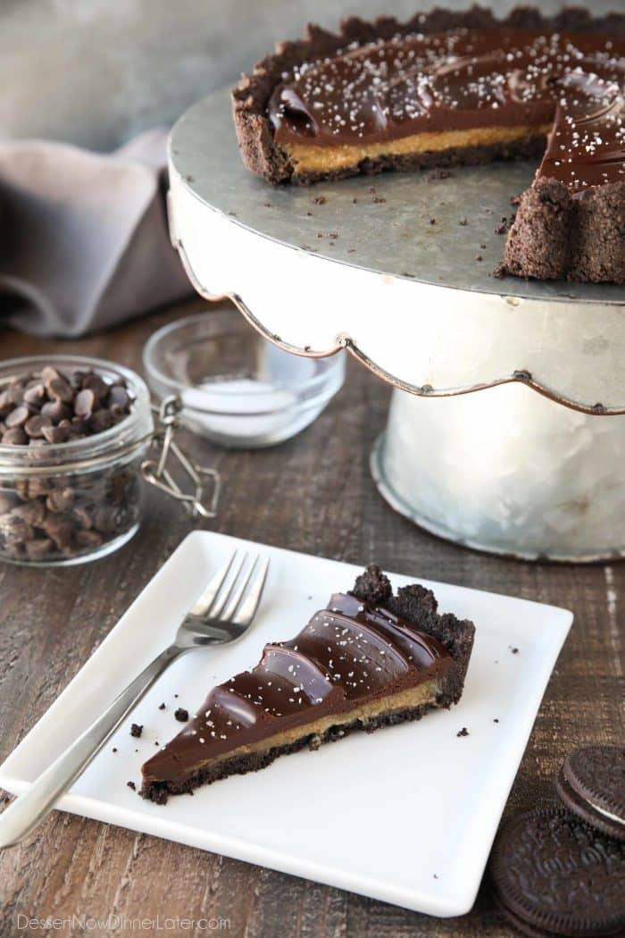 Rich and decadent, this chocolate caramel tart is incredibly satisfying.