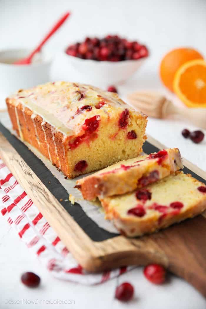 Tart yet sweet, this Cranberry Orange Bread is a wonderful treat for the holidays.