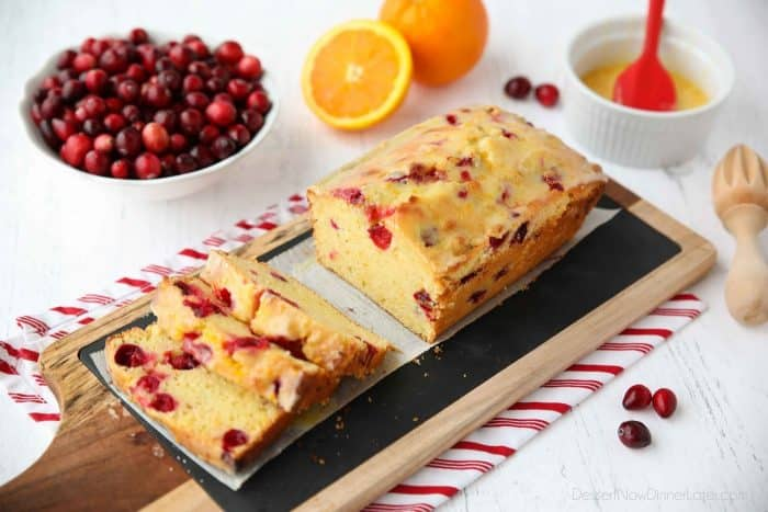 Cranberry Orange Bread is tangy, sweet, and easy to make.