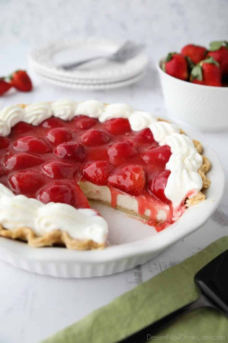 Strawberry Cream Pie Dessert Now Dinner Later