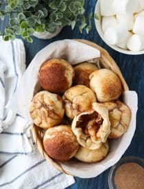 Empty Tomb Rolls (aka Resurrection Rolls) are delicious cinnamon-sugar sticky buns with a melting marshmallow inside. A family-friendly recipe that teaches the story of Easter. So easy to make with Rhodes rolls.