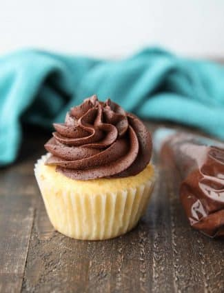 This homemade chocolate buttercream frosting is simple and classic. Perfectly creamy and full of rich chocolate flavor. Great for spreading or piping onto cakes and cupcakes.