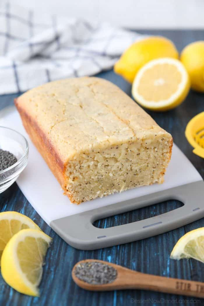 Moist and tangy, this Lemon Poppy Seed Bread is easy and delicious.