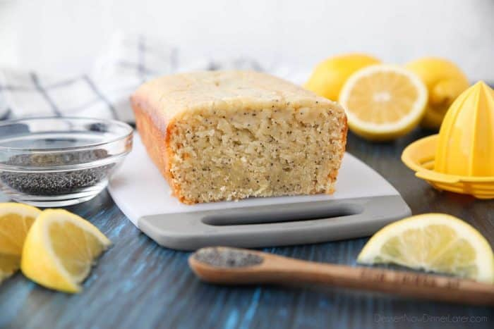This Lemon Poppy Seed Bread is quick to make and super moist with big lemon flavor.