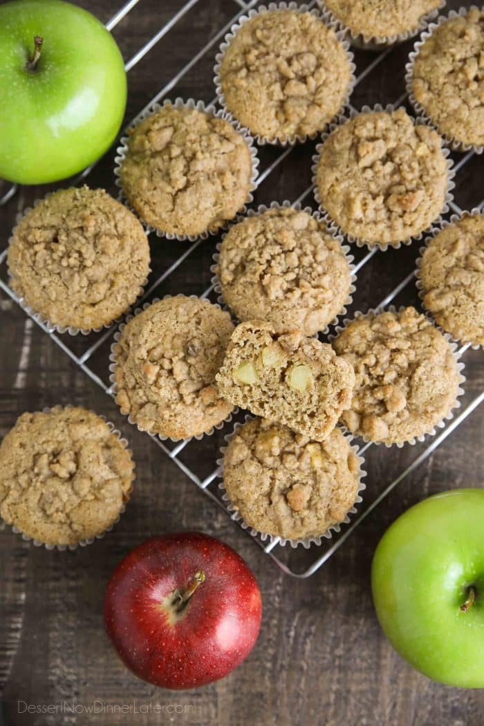 Apple Cinnamon Muffins make a great fall snack or lunchbox treat.