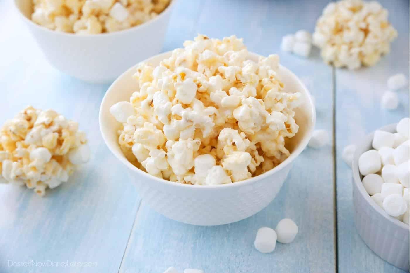 Soft And Gooey Marshmallow Popcorn Dessert Now Dinner Later